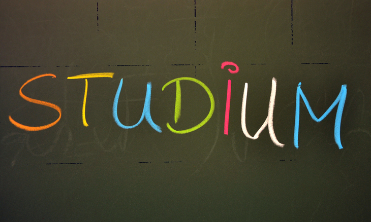 Studium written on the chalkboard