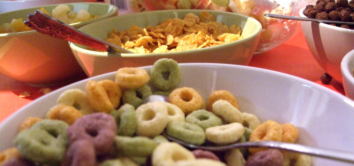 Bowls of different cereals
