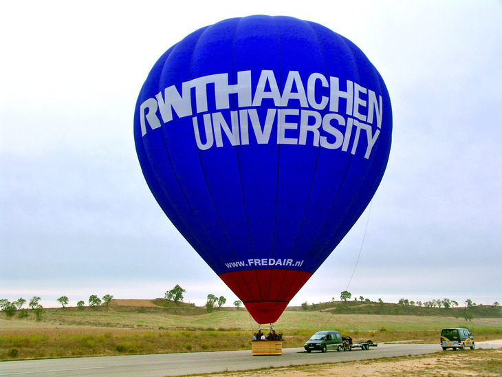 Hot air balloon with RWTH logo