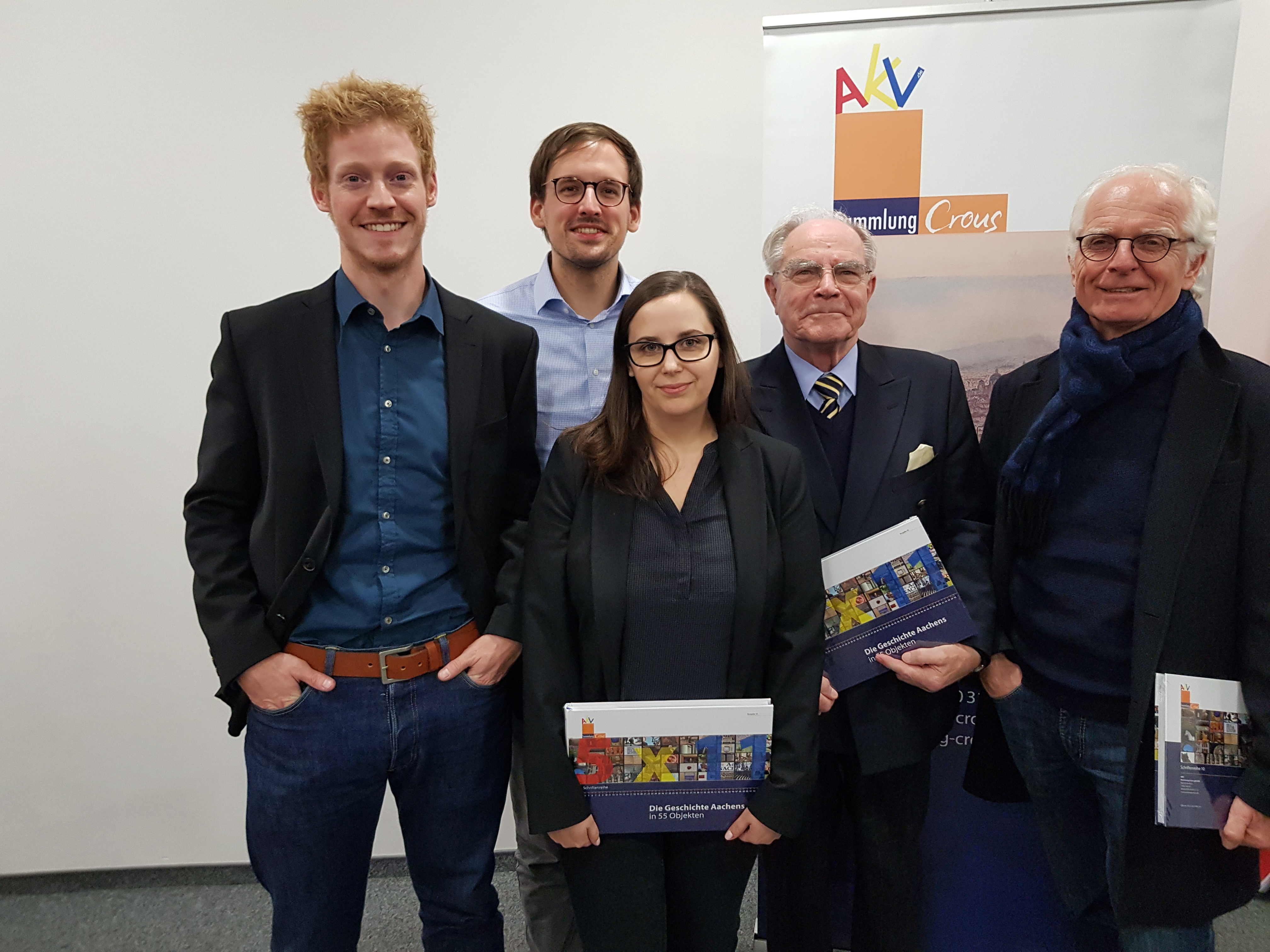 Tobias Dewes, Robert Peters, Lena Knops, Prof. Paul Thomes v.l.n.r.
